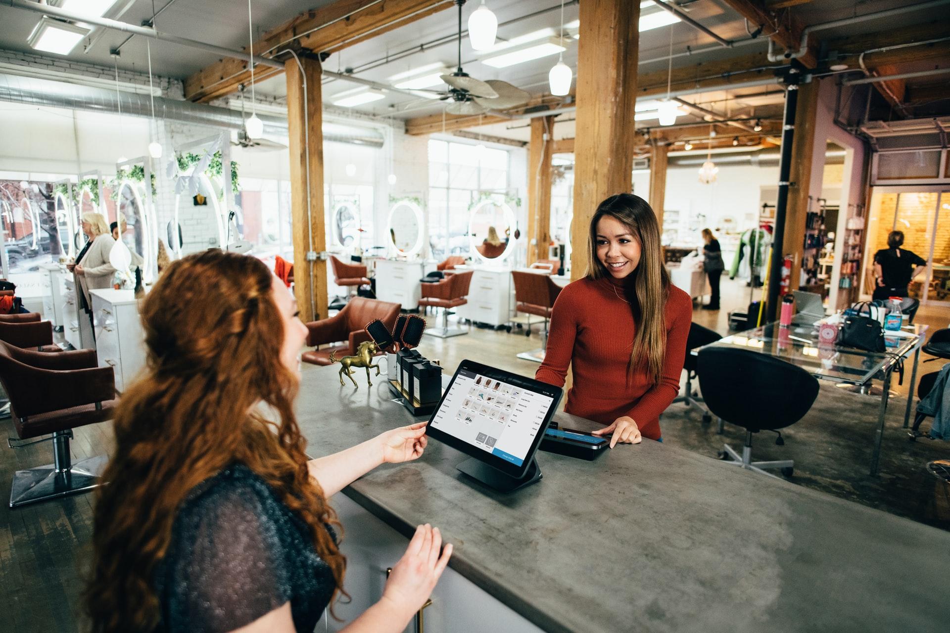 A customer making a purchase.