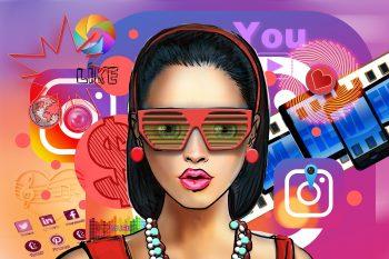Artwork depciting a social media influencer.