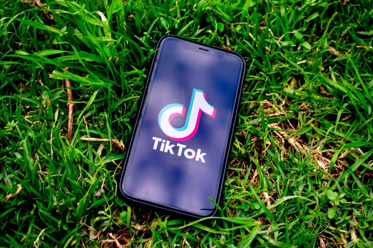 TikTok logo on a smartphone.
