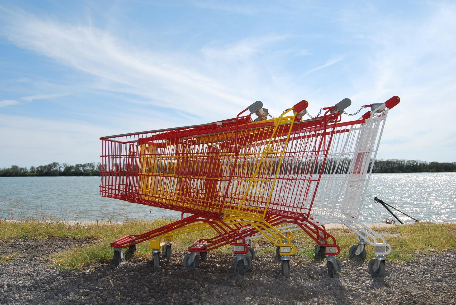 Abandoned shopping trolleys.